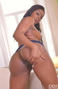 Ebony Model Jasmine Webb Playing With Toy