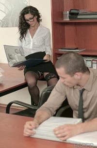 Gorgeous Office Girl Alexa Tomas Nailed Hard