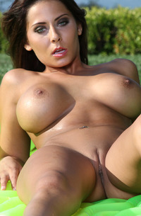 Madison Ivy Wet And Horny In Baby Blue Micro Gstring Bikini