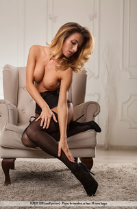 Glamour Beauty In Sexy Stockings