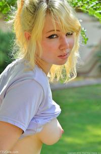 Blonde Astrid In Public