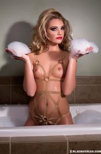 Kenna James Taking Shower In Stockings