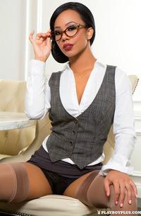 Ebony Office Babe Hope Alina