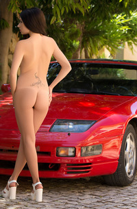 Niemira Stripping In Sport Car
