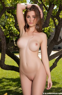Playmate Mary Jane Stripping In Park
