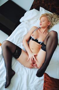 Horny Blond Nika N In Stockings