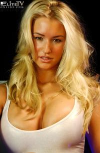 Busty Blonde Danica Flashing Her Booties