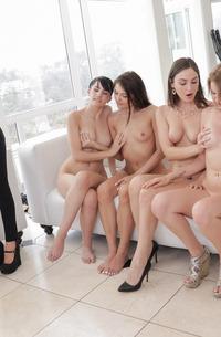 Lesbian Gangbang Practice