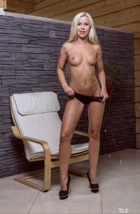 Sizzling-hot Blonde Dido Dressed For Business