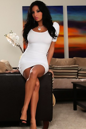 Anissa Kate Models Her Tight White Dress
