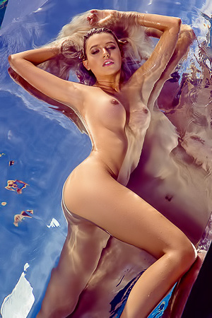 Swimming Playmate Monica Sims