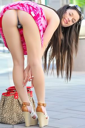 Upskirt In The Street
