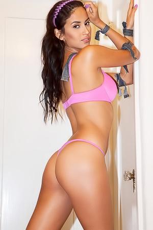 Luna Castro - pink lingerie