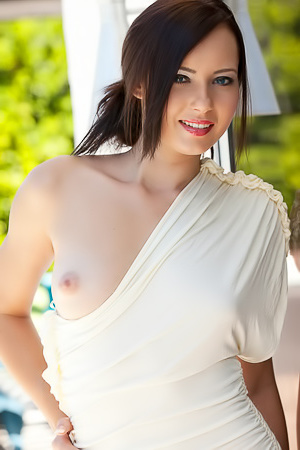Natasha Belle shows her young body