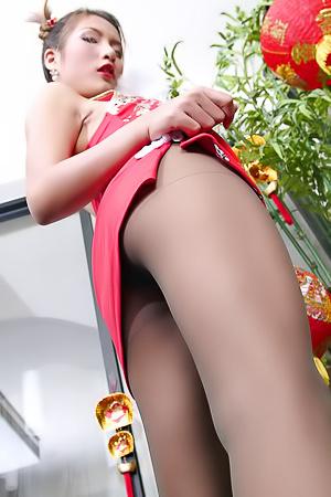 Vanessa Wang upskirts asian