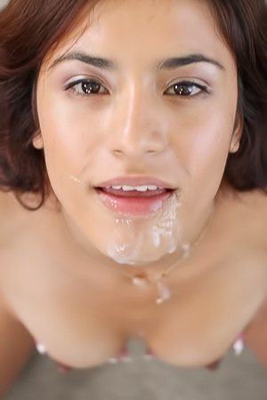 Ava Mendes gets hot facial