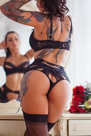 Glamour tattooed chick Lika A