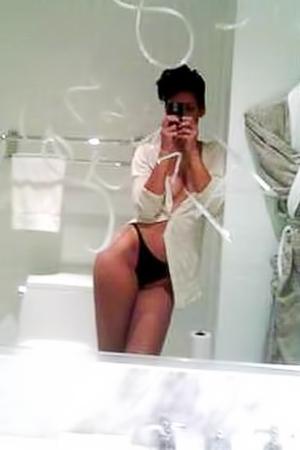 Amazing naked Rihanna