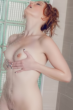 Crystal Clark - hot shower with redhead milf