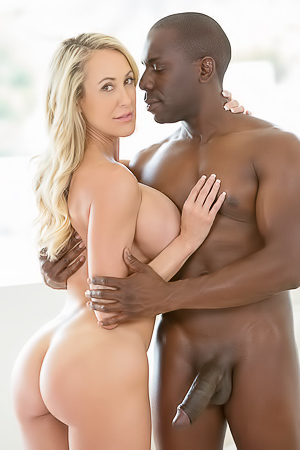 Blonde takes giant black dick