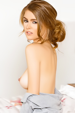 Hot Amberleigh West in her bed