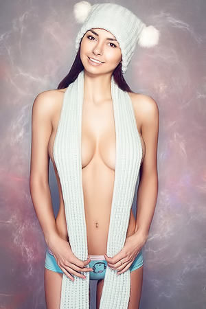 Famous sports model Helga Lovekaty