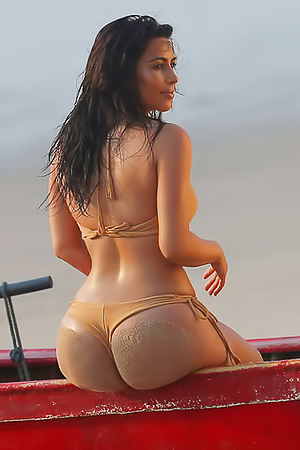 Kim Kardashian and her famous big butt