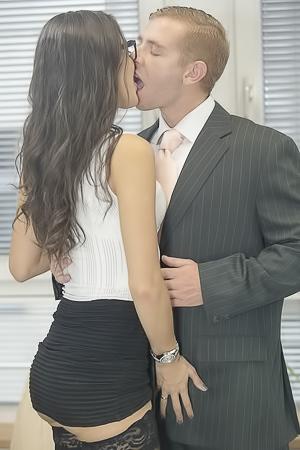 Office sex with Carolina Abril