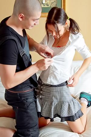 Porn with sexy schoolgirl