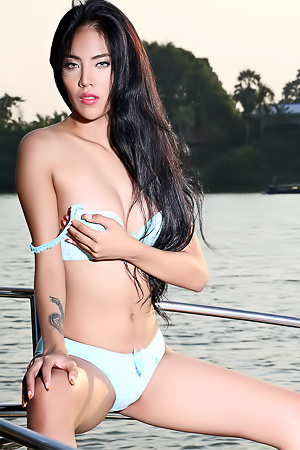 Hot asian girl in bikini