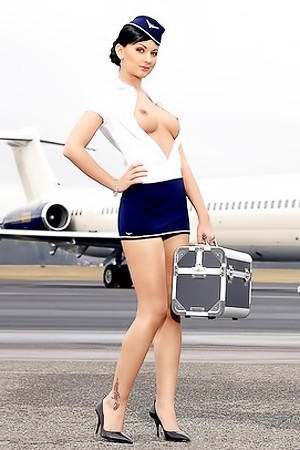 So sexy stewardesses