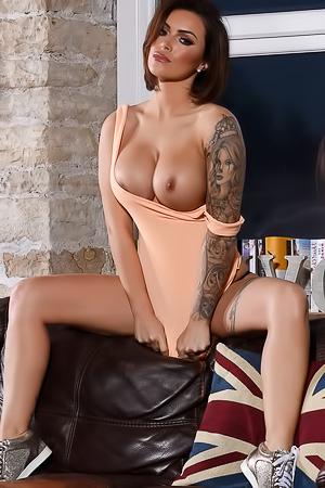 Gemma Massey - wild boobed brunette