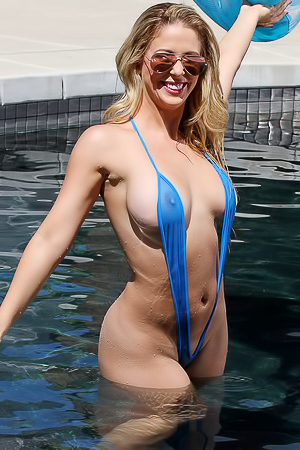 Cherie DeVille - naked in the pool