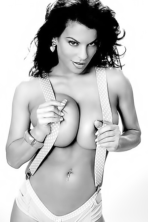 Busty Nancy Erminia in hot photoshoot