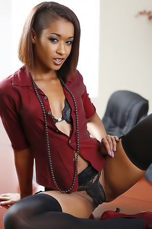Ebony Skin Diamond in office