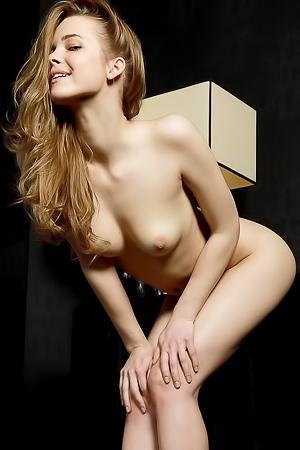 Naked skinny blonde Carolina