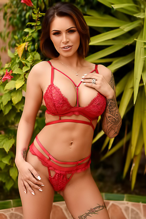 Charming babe Gemma Massey