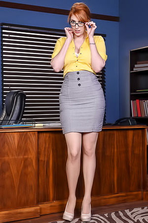 Mature secretary Lauren Phillips