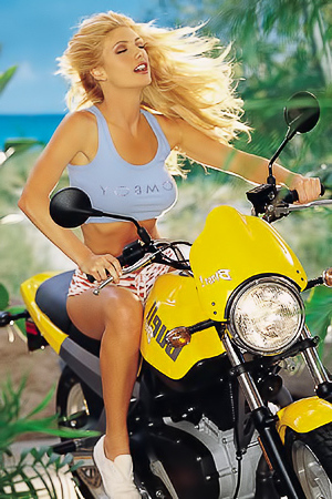 Brande Roderick riding bike