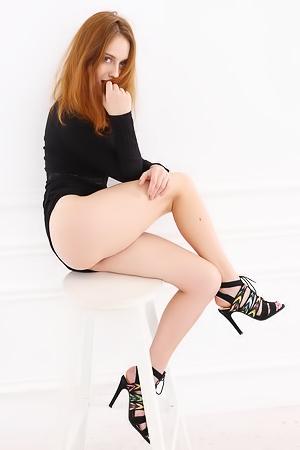 Redhead Teen Sonia S In Studio