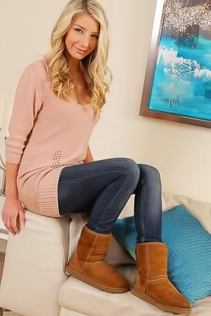 Cute blonde Sophie A