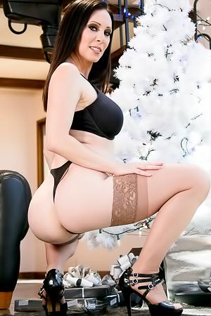 Sexy Jenna Reid in stockings