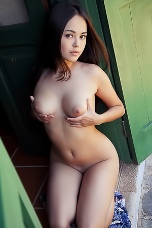 Asian summer girl Li Moon