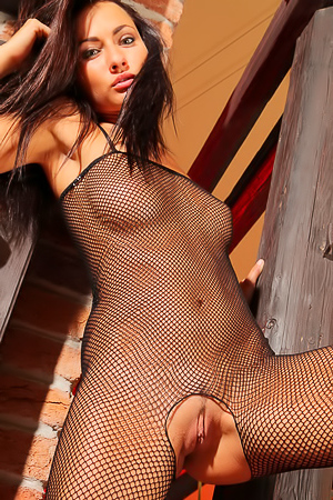 Michaela in sexy fishnet