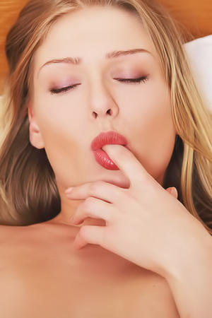 Lucy Heart tasting her vagina