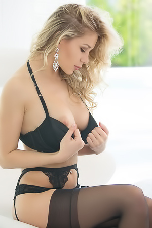 Stunning Candice Brielle in stockings