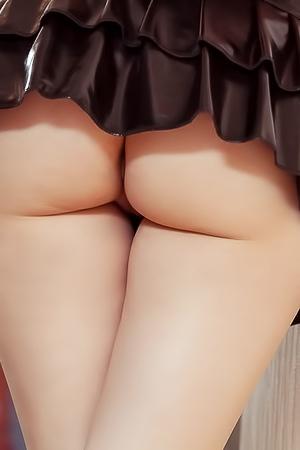 Upskirt of pretty pussy