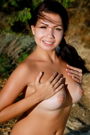 Russian Girl Romana A Stripping Outdoor