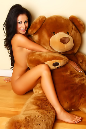 Naked taned brunette Danielle