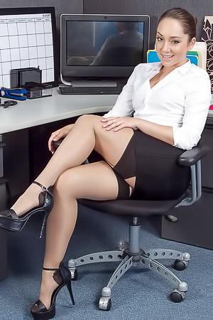 Naked secretary Remy LaCroix